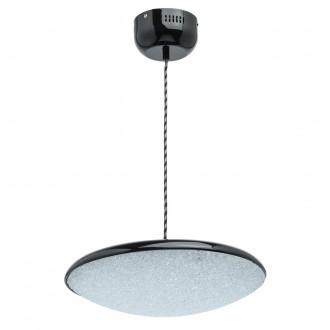 DE MARKT 703011101   Omega-MW De Markt visiace svietidlo 1x LED 1600lm 3000K čierna, kryštálový efekt