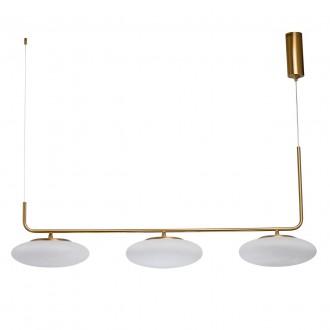 DE MARKT 722010903   Auksis De Markt visiace svietidlo 3x LED 7200lm 3000K matné zlato, opál