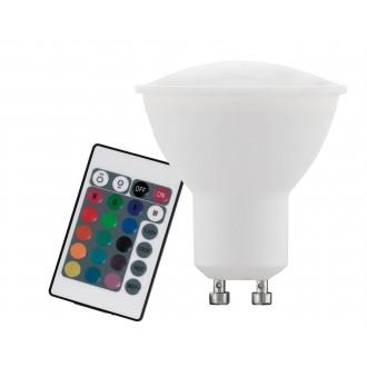 EGLO 10686 | GU10 4W -> 22W Eglo spot LED svetelný zdroj RGB-WW 220lm 3000K regulovateľná intenzita svetla, meniace farbu diaľkový ovládač CRI>80