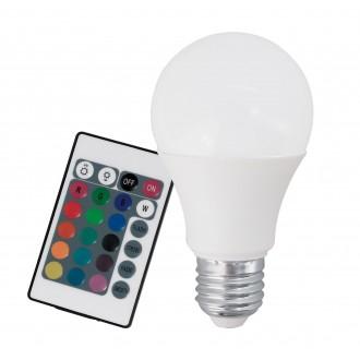 EGLO 10899 | E27 7,5W -> 40W Eglo normálne A60 LED svetelný zdroj RGB-WW 470lm 3000K regulovateľná intenzita svetla, meniace farbu diaľkový ovládač CRI>80