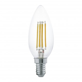 EGLO 11496 | E14 4W -> 30W Eglo sviečka C35 LED svetelný zdroj filament 350lm 2700K 360° CRI>80