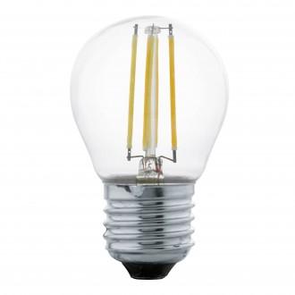 EGLO 11498 | E27 4W -> 30W Eglo malá guľa G45 LED svetelný zdroj filament 350lm 2700K 360° CRI>80