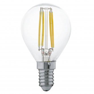 EGLO 11499 | E14 4W -> 30W Eglo malá guľa P45 LED svetelný zdroj filament 350lm 2700K 360° CRI>80