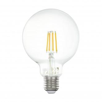 EGLO 11502 | E27 4W -> 33W Eglo veľká guľa G95 LED svetelný zdroj filament 350lm 2700K 360° CRI>80