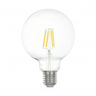 EGLO 11503 | E27 5W -> 48W Eglo veľká guľa G95 LED svetelný zdroj filament 600lm 2700K 360° CRI>80