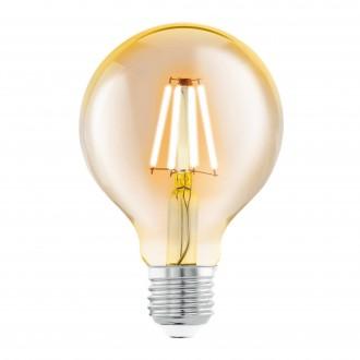 EGLO 11556 | E27 4W -> 30W Eglo veľká guľa G80 LED svetelný zdroj filament 330lm 2200K 360° CRI>80