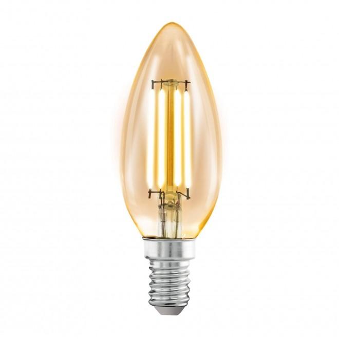 EGLO 11557 | E14 4W -> 22W Eglo sviečka C35 LED svetelný zdroj filament 220lm 2200K 360° CRI>80