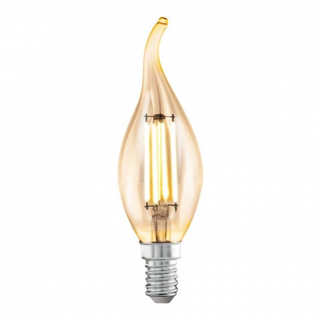 EGLO 11559 | E14 4W -> 22W Eglo sviečka - dekor FC35 LED svetelný zdroj filament 220lm 2200K 360° CRI>80