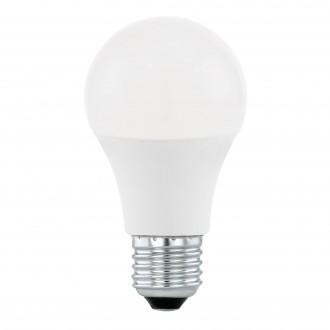 EGLO 11562 | E27 10W -> 60W Eglo normálne A60 LED svetelný zdroj Step Dim. 806lm 4000K regulovateľná intenzita svetla impulzový prepínač 200° CRI>80