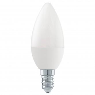 EGLO 11581 | E14 6W -> 40W Eglo sviečka C37 LED svetelný zdroj Step Dim. 470lm 3000K regulovateľná intenzita svetla impulzový prepínač 180° CRI>80