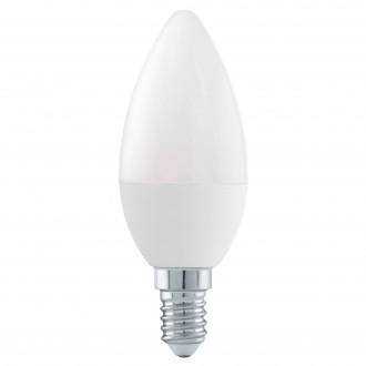 EGLO 11582 | E14 6W -> 40W Eglo sviečka C37 LED svetelný zdroj Step Dim. 470lm 4000K regulovateľná intenzita svetla impulzový prepínač 180° CRI>80
