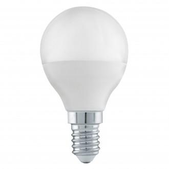 EGLO 11583 | E14 6W -> 40W Eglo malá guľa P45 LED svetelný zdroj Step Dim. 470lm 3000K regulovateľná intenzita svetla impulzový prepínač CRI>80