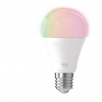 EGLO 11585 | E27 9W -> 60W Eglo normálne A60 LED svetelný zdroj mudré osvetlenie 806lm 2700 <-> 6500K regulovateľná intenzita svetla, nastaviteľná farebná teplota, meniace farbu diaľkový ovládač CRI>80