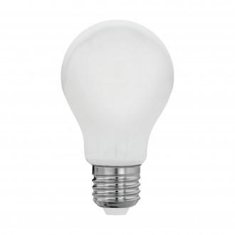 EGLO 11596 | E27 8W -> 60W Eglo normálne A60 LED svetelný zdroj filament, milky 806lm 2700K 360° CRI>80