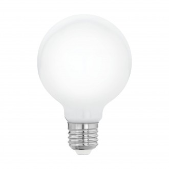 EGLO 11597 | E27 5W -> 40W Eglo veľká guľa G80 LED svetelný zdroj filament, milky 470lm 2700K 360° CRI>80