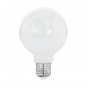 EGLO 11598 | E27 8W -> 60W Eglo veľká guľa G80 LED svetelný zdroj filament, milky 806lm 2700K 360° CRI>80