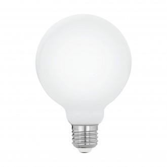 EGLO 11599 | E27 5W -> 40W Eglo veľká guľa G95 LED svetelný zdroj filament, milky 470lm 2700K 360° CRI>80