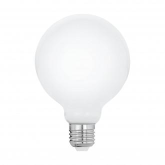EGLO 11601 | E27 8W -> 60W Eglo veľká guľa G95 LED svetelný zdroj filament, milky 806lm 2700K 360° CRI>80