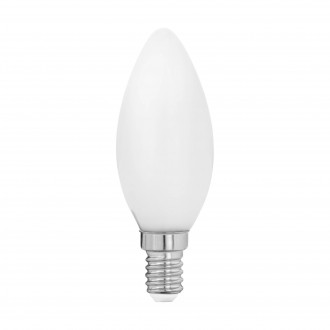 EGLO 11602 | E14 4W -> 40W Eglo sviečka C35 LED svetelný zdroj filament, milky 470lm 2700K 360° CRI>80