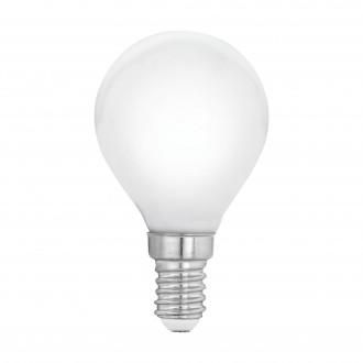 EGLO 11604 | E14 4W -> 40W Eglo malá guľa P45 LED svetelný zdroj filament, milky 470lm 2700K 360° CRI>80