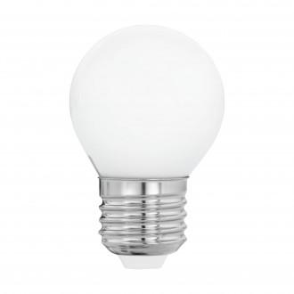 EGLO 11605 | E27 4W -> 40W Eglo malá guľa G45 LED svetelný zdroj filament, milky 470lm 2700K 360° CRI>80