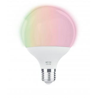 EGLO 11659 | E27 13W -> 100W Eglo veľká guľa G95 LED svetelný zdroj mudré osvetlenie 1300lm 2700 <-> 6500K regulovateľná intenzita svetla, nastaviteľná farebná teplota, meniace farbu CRI>80