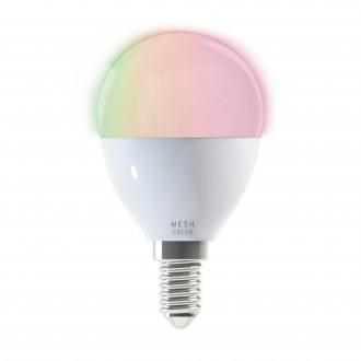 EGLO 11672 | E14 5W -> 38W Eglo malá guľa P50 LED svetelný zdroj mudré osvetlenie 400lm 2700 <-> 6500K regulovateľná intenzita svetla, nastaviteľná farebná teplota, meniace farbu CRI>80