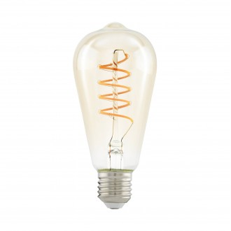 EGLO 11681 | E27 4W -> 25W Eglo Edison ST64 LED svetelný zdroj filament, Spiral 260lm 2200K 360° CRI>80