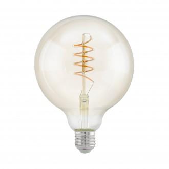 EGLO 11683 | E27 4W -> 25W Eglo veľká guľa G125 LED svetelný zdroj filament, Spiral 260lm 2200K 360° CRI>80