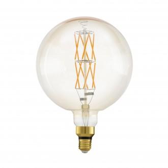 EGLO 11687 | E27 8W -> 60W Eglo veľká guľa G200 LED svetelný zdroj filament, BigSize 806lm 2100K regulovateľná intenzita svetla 360° CRI>80