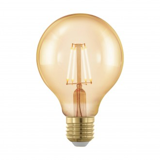 EGLO 11692 | E27 4W -> 30W Eglo veľká guľa G80 LED svetelný zdroj filament, golden age 320lm 1700K regulovateľná intenzita svetla 360° CRI>80