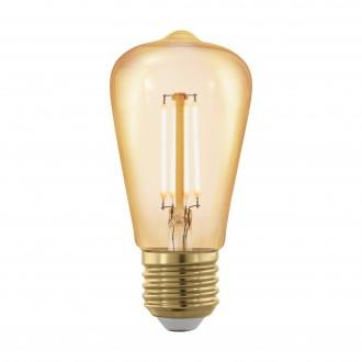 EGLO 11695 | E27 4W -> 30W Eglo Edison ST48 LED svetelný zdroj filament, golden age 320lm 1700K regulovateľná intenzita svetla 360° CRI>80