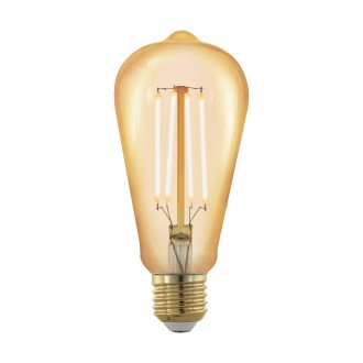 EGLO 11696 | E27 4W -> 30W Eglo Edison ST64 LED svetelný zdroj filament, golden age 320lm 1700K regulovateľná intenzita svetla 360° CRI>80