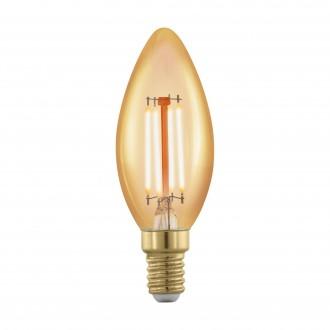 EGLO 11698 | E14 4W -> 30W Eglo sviečka C37 LED svetelný zdroj filament, golden age 320lm 1700K regulovateľná intenzita svetla 360° CRI>80