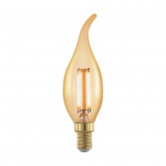 EGLO 11699 | E14 4W -> 30W Eglo sviečka - dekor FC35 LED svetelný zdroj filament, golden age 320lm 1700K regulovateľná intenzita svetla 360° CRI>80