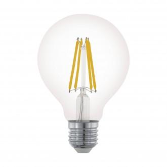 EGLO 11702 | E27 6W -> 60W Eglo veľká guľa G80 LED svetelný zdroj filament 806lm 2700K regulovateľná intenzita svetla 360° CRI>80
