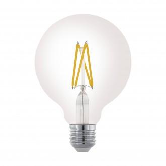 EGLO 11703 | E27 6W -> 60W Eglo veľká guľa G95 LED svetelný zdroj filament 806lm 2700K regulovateľná intenzita svetla 360° CRI>80