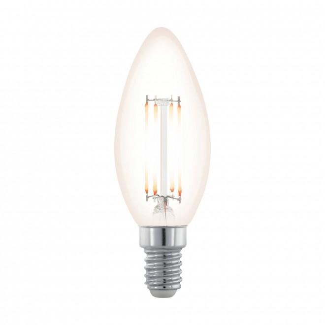 EGLO 11708 | E14 3,5W -> 28W Eglo sviečka C35 LED svetelný zdroj filament, northern lights 300lm 2200K regulovateľná intenzita svetla 360° CRI>80