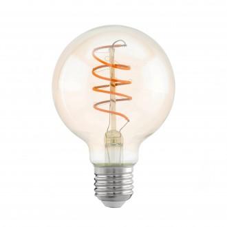 EGLO 11722 | E27 4W -> 25W Eglo veľká guľa G80 LED svetelný zdroj filament, Spiral 260lm 2200K 360° CRI>80