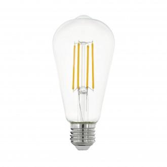 EGLO 11757 | E27 7W -> 60W Eglo Edison ST64 LED svetelný zdroj filament 806lm 2700K 320° CRI>80