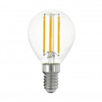 EGLO 11761 | E14 4W -> 40W Eglo malá guľa P45 LED svetelný zdroj filament 470lm 2700K 320° CRI>80