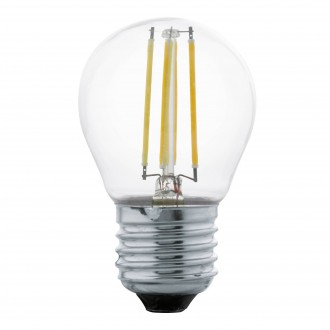 EGLO 11762 | E27 4W -> 40W Eglo malá guľa G45 LED svetelný zdroj filament 470lm 2700K 320° CRI>80