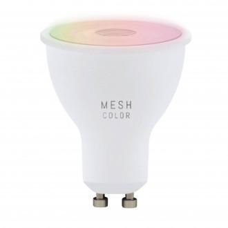 EGLO 11856 | GU10 5W -> 50W Eglo spot LED svetelný zdroj RGBTW múdre osvetlenie 345lm 2700 <-> 6500K regulovateľná intenzita svetla, nastaviteľná farebná teplota, meniace farbu CRI>80
