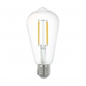 EGLO 11862 | E27 6W -> 60W Eglo Edison ST64 LED svetelný zdroj filament múdre osvetlenie 806lm 2700K regulovateľná intenzita svetla, na diaľkové ovládanie CRI>80