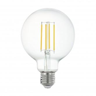 EGLO 11863 | E27 6W -> 60W Eglo veľká guľa G95 LED svetelný zdroj filament múdre osvetlenie 806lm 2700K regulovateľná intenzita svetla, na diaľkové ovládanie CRI>80