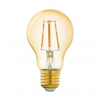 EGLO 11864 | E27 5,5W -> 41W Eglo normálne A60 LED svetelný zdroj filament múdre osvetlenie 500lm 2200K regulovateľná intenzita svetla, na diaľkové ovládanie CRI>80