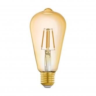 EGLO 11865 | E27 5,5W -> 41W Eglo Edison ST64 LED svetelný zdroj filament múdre osvetlenie 500lm 2200K regulovateľná intenzita svetla, na diaľkové ovládanie CRI>80