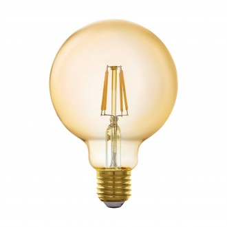 EGLO 11866 | E27 5,5W -> 41W Eglo veľká guľa G95 LED svetelný zdroj filament múdre osvetlenie 500lm 2200K regulovateľná intenzita svetla, na diaľkové ovládanie CRI>80