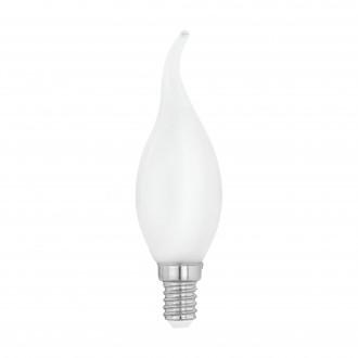 EGLO 12565 | E14 4W -> 40W Eglo sviečka - dekor FC35 LED svetelný zdroj filament, milky 470lm 4000K 360° CRI>80