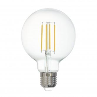 EGLO 12571 | E27 6W -> 60W Eglo veľká guľa G80 LED svetelný zdroj filament múdre osvetlenie 806lm 2700K regulovateľná intenzita svetla, na diaľkové ovládanie CRI>80